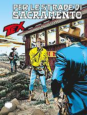 Per le strade di Sacramento - Tex 672 cover