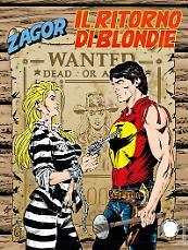 Il ritorno di Blondie - Zagor 631 cover