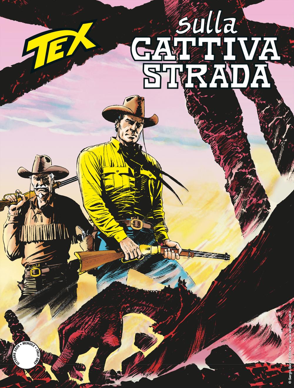Sulla cattiva strada - Tex 720 cover