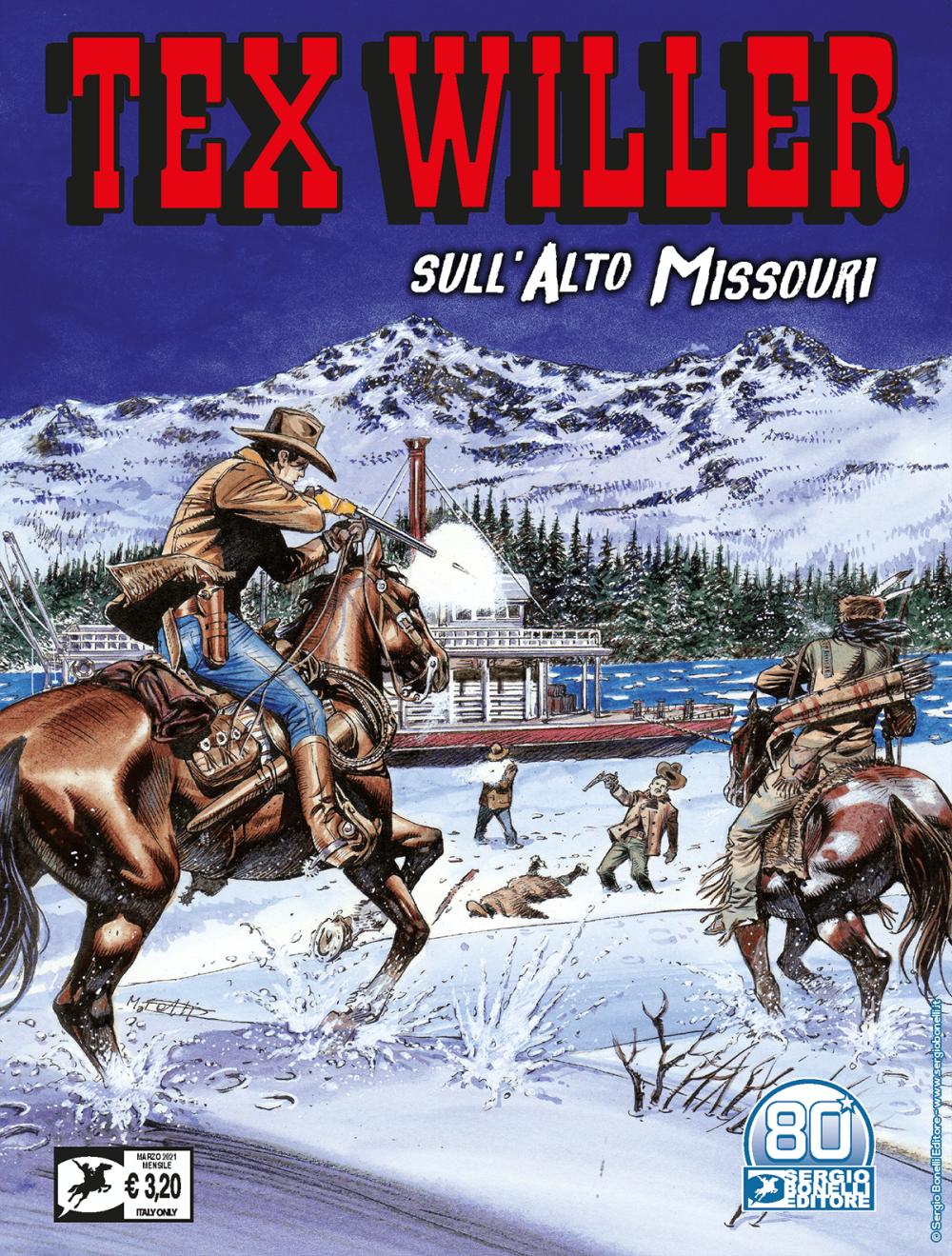 Sull'Alto Missouri - Tex Willer 29 cover