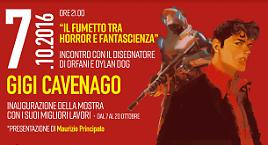 In biblioteca con Gigi Cavenago!