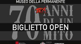 """Biglietti """"open"""" per la mostra di Tex"""