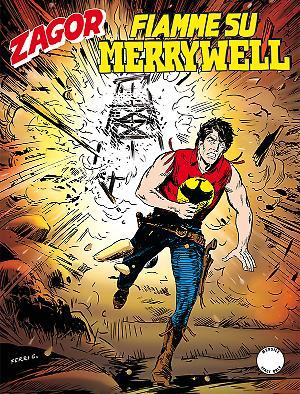 Fiamme su Merrywell - Zagor 612 cover