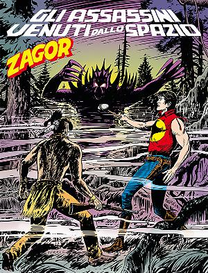 Gli assassini venuti dallo spazio - Zagor 614 cover