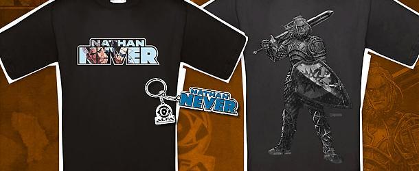 Le t-shirt di Nathan Never e Dragonero!